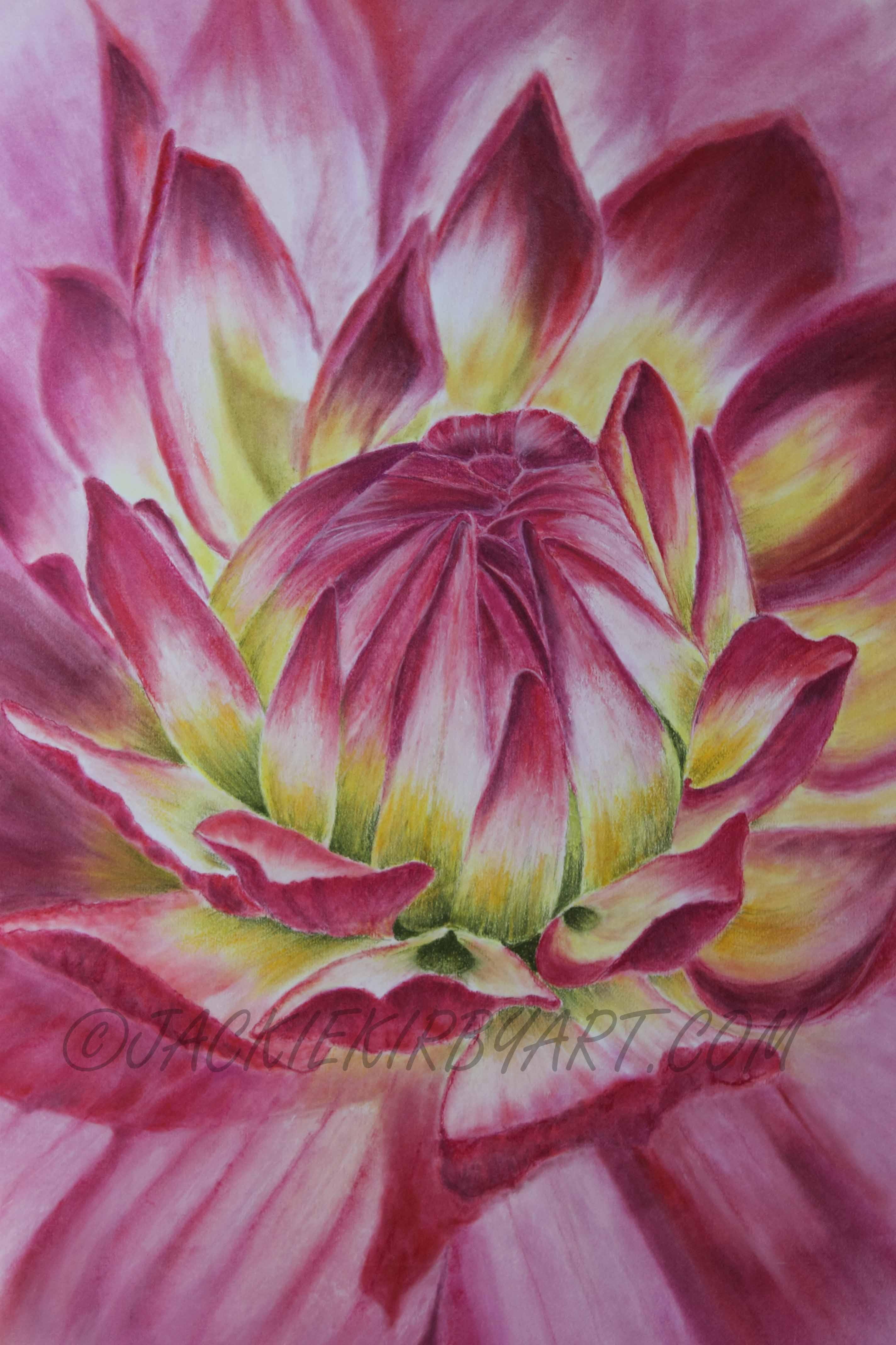 Big In Pink - Pastel & Pastel Pencil On Paper