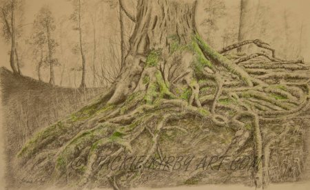 Just Hanging On - Graphite, Pencil & Coloured Pencil SOLD