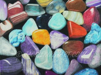Polished Pebbles Coloured Pencil £180 plus delivery