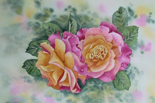 Roses Watercolour £95
