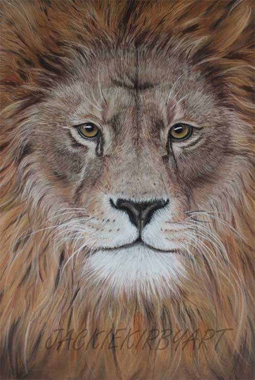 Lion in pastel